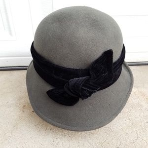Vintage Scala Wool Felt Cloche Hat